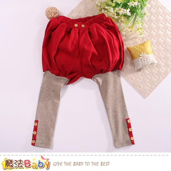 女童裝 假兩件燈籠褲 魔法baby