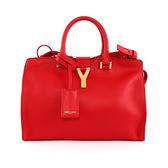 【YSL】金字logo 小牛皮手提斜背二用包(莓紅) 311210 BJ50J 6525