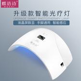美甲太陽燈 甲油膠光療機led感應雙光源光療速幹機器 手腳兩用jy【星時代女王】
