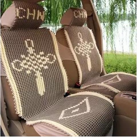 汽車坐墊手編夏四季貨車前座墊通用冰絲亞麻涼墊單個單墊單片客面 母親節禮物