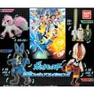 全套4款【日本正版】精靈寶可夢 可動公仔 P2 扭蛋 轉蛋 神奇寶貝 閃焰王牌 路卡利歐 BANDAI - 580492