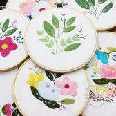 簡單繡刺繡diy材料包手工初學立體繡套件花卉絲帶繡蘇繡簡約現代