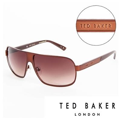 【南紡購物中心】TED BAKER 倫敦個性男士質感造型太陽眼鏡(棕) TB1241175