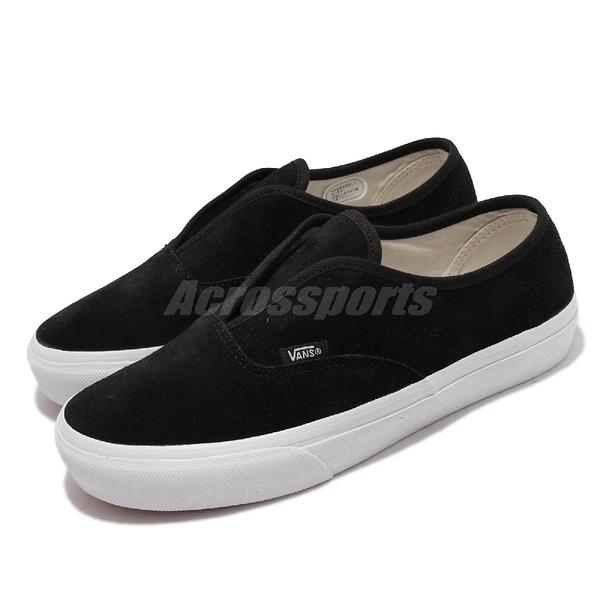 Vans V44CF Slip Authentic 黑 白 無鞋帶 套入式 女鞋 休閒鞋【ACS】 6100030001