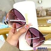 女士太陽眼鏡圓臉墨鏡遮陽防曬防紫外線時尚潮顯瘦大臉眼眼鏡【櫻桃菜菜子】