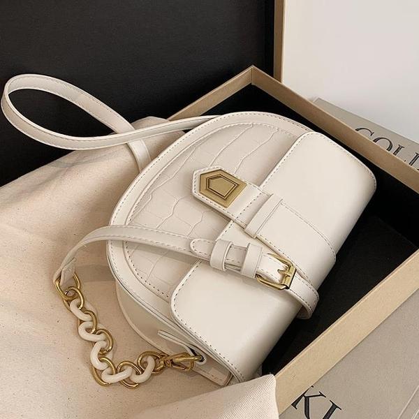 高級質感小包包女新款潮夏季時尚百搭2021爆款馬鞍斜背包洋氣 1995生活雜貨