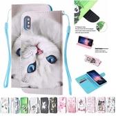 蘋果 iPhone XS MAX XR iPhoneX i8 Plus i7 Plus HS3彩繪皮套 手機皮套 掀蓋殼 插卡 支架