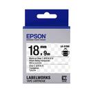 EPSON LK-5TBN C53S655408 透明系列透明底黑字標籤帶 寬度18mm