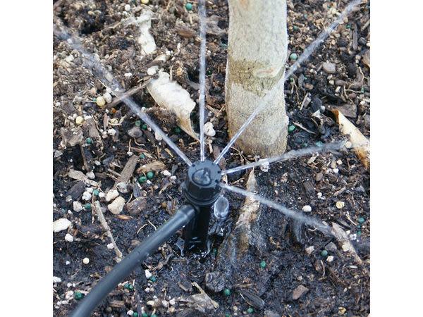 美國ORBIT自動定時灑水器加(四轉兩分接頭五孔)可調滴頭插針式組合包(可噴灑半徑2~5cm)