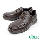 【GOLF】日本4E寬楦綁帶手工氣墊休閒鹿皮鞋 深褐色(GF5012-DBR)