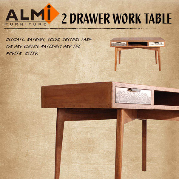 【ALMI】VINTAGE-DESK 2 DRAWERS 雙抽書桌