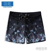 男士泳褲速干寬松男大碼海邊度假平角溫泉游泳褲套裝男防尷尬短褲