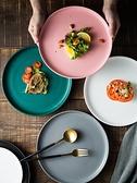 西餐盤 北歐牛排餐盤陶瓷西餐盤平盤家用白色盤子創意網紅沙拉盤歐式【快速出貨八折優惠】