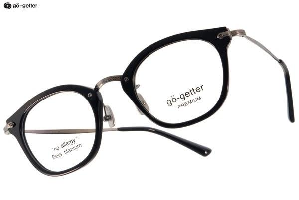 Go-Getter 光學眼鏡 GO5004 C02 (黑-銀) 韓系時尚潮流款 # 金橘眼鏡