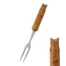 【日本製】【Fluffy】造型叉子 虎斑貓款 12cm(一組:12個) SD-13647-12 - Fluffy