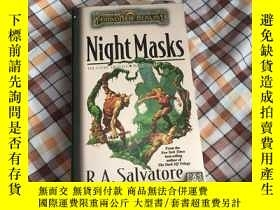 二手書博民逛書店英文原版:Night罕見Masks 書口微黃Y182970