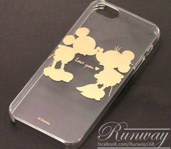 【R】超搶手 超薄 卡通 米奇透明殼 iPhone5/5s手機套 燙金手機殼 保護套 保護殼 硬殼
