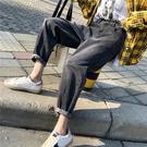 大碼胖mm高腰牛仔褲女寬鬆闊腿老爹褲2020春季韓版顯瘦九分哈倫褲 店慶降價