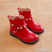 女童靴子真皮單靴春秋冬季新款短靴單寶寶中大童兒童馬丁靴女   可然精品鞋櫃