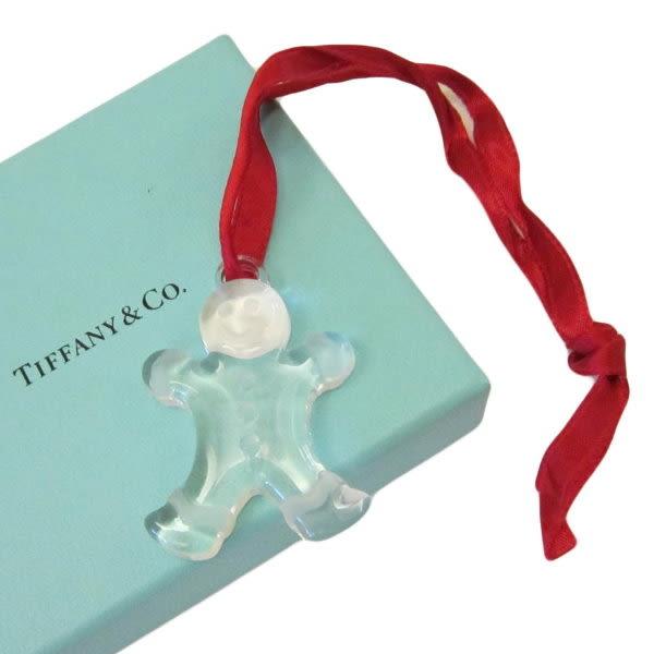 【巴黎站二手名牌專賣店】*TIFFANY & CO. 真品*透明玻璃雪人 吊飾 掛飾