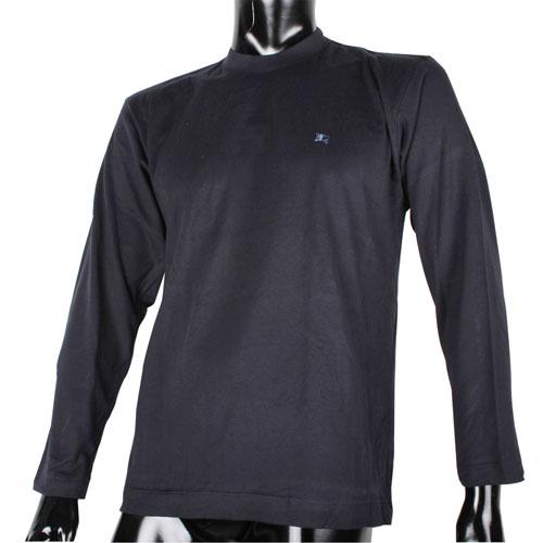 BURBERRY紳士透氣排汗棉質上衣(深藍色)085203-2