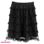 【SHOWCASE】唯美蕾絲雙層網紗膝上短裙(黑)