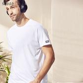 【ST.MALO】台灣製綠色時尚速乾除臭咖啡紗T恤-1809MT-瞐亮白