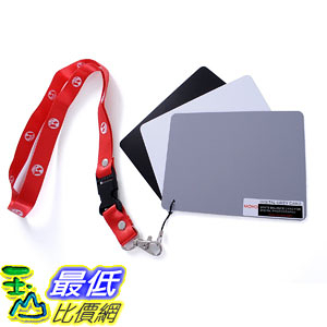 [107美國直購] Movo Photo Color/White Balance Card Set Digital Photography (Index card sized, 5 X 4吋) M