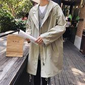 風衣男士2019秋冬季新款韓版潮加絨中長款加肥加大碼大衣胖子外套