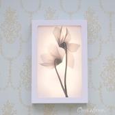 現代透明花裝飾畫壁燈LED床頭壁畫燈時尚簡約樓梯燈過道燈床頭燈 阿宅便利店