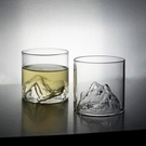 三汀富士山玻璃杯子復古日式水杯咖啡日本茶杯威士忌酒杯家用耐熱 快速出貨