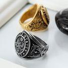 【5折超值價】潮流街頭美式復古造型男款鈦鋼戒指