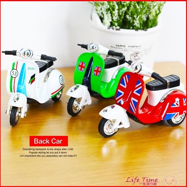〖LifeTime〗﹝偉士牌迴力摩托車﹞正版合金迴力車 模型機車 模型車 玩具車 D61051
