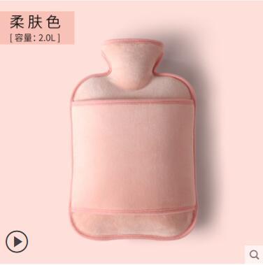 熱水袋注水暖水袋灌水暖腳床上大小號學生嬰兒暖肚子熱敷腰背防爆 蘿莉新品