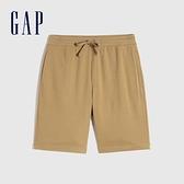 Gap男裝 碳素軟磨系列 法式圈織簡約運動短褲 825305-淺咖色