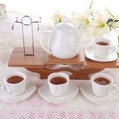 下午茶茶具組合含咖啡杯+茶壺-4人歐式浮雕高檔創意骨瓷茶具69g68[時尚巴黎]