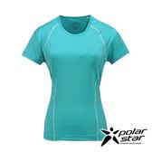 PolarStar 女 排汗快乾T恤『水藍綠』P17130 吸濕排汗透氣T-shirt短袖運動服瑜珈休閒服短袖透氣運動服