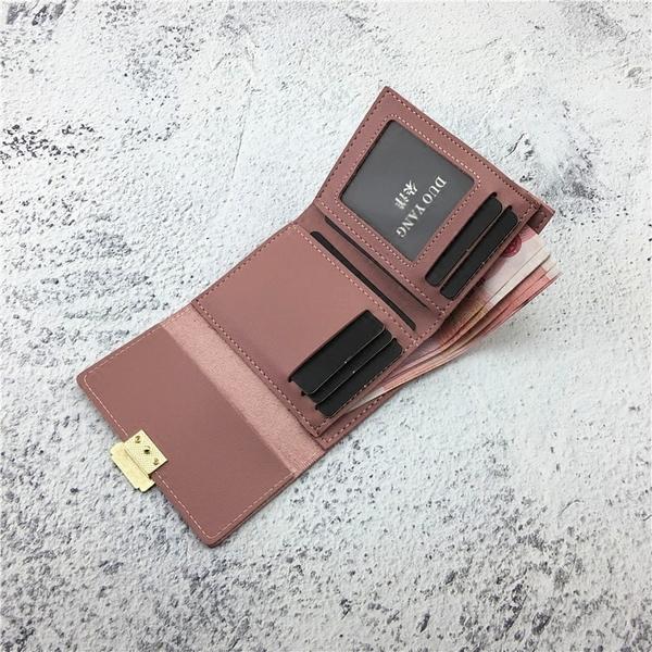零錢包 ins錢包女短款2019新款正韓折疊軟皮夾簡約時尚卡包迷你小零錢夾