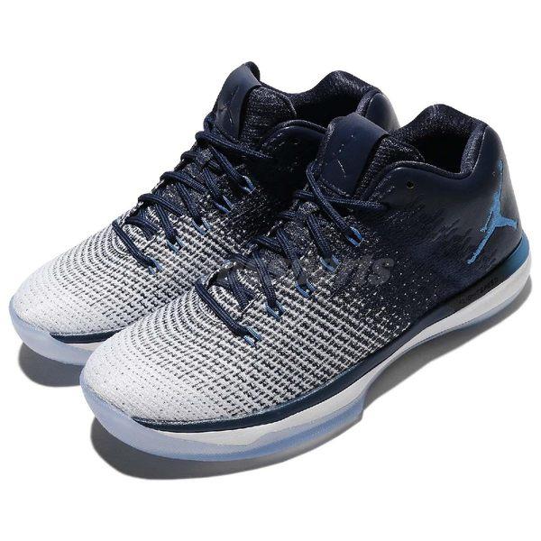 Nike 籃球鞋 Air Jordan XXXI Low 31 UNC 藍 白 冰底 低筒 男鞋 AJ31【PUMP306】 897564-400