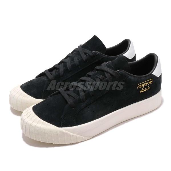 【五折特賣】adidas 休閒鞋 Everyn 黑 白 復古奶油底 金標 厚底 餅乾鞋 基本款 女鞋【ACS】 B28090