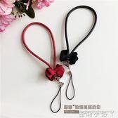 手機掛繩原創設計手腕繩韓國布藝蝴蝶結手機皮繩掛件女款手機錬 蘿莉小腳ㄚ