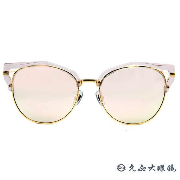 HELEN KELLER 林志玲代言 H8617 (透粉-金) 貓眼 水銀 太陽眼鏡 久必大眼鏡