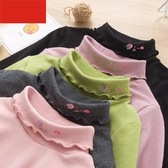 女童加厚打底衫秋冬季新款長袖高領冬裝洋氣韓版兒童上衣促銷好物