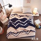 毛毯被子宿舍單人學生加厚珊瑚絨毯子保暖雙人冬季床單 zm8957『男人範』TW
