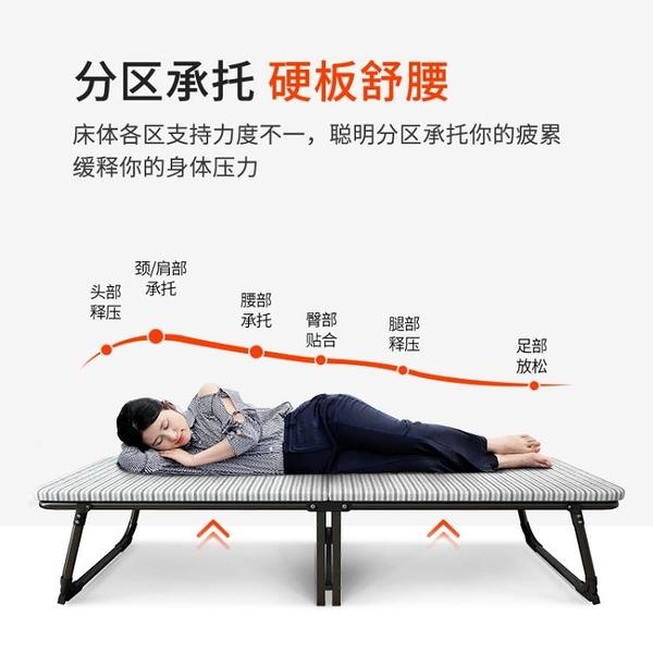 摺疊床單人辦公室午休家用成人午睡躺椅簡易硬板經濟型木板床 NMS 幸福第一站