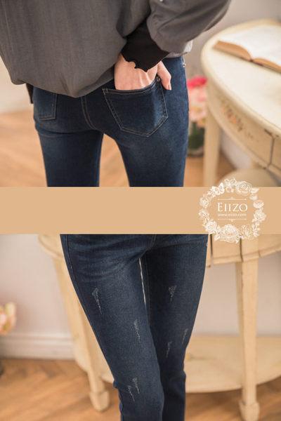 【EIIZO】舒適內刷毛保暖質感牛仔褲(深藍)
