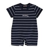 『小鱷魚童裝』條紋LOGO連身褲(0號~01號)557597