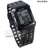 JAGA 捷卡 樂活時尚休閒錶 電子錶 運動錶 黑色/男錶/學生錶/軍錶/防水手錶/方形 M807-A(黑) M807-A
