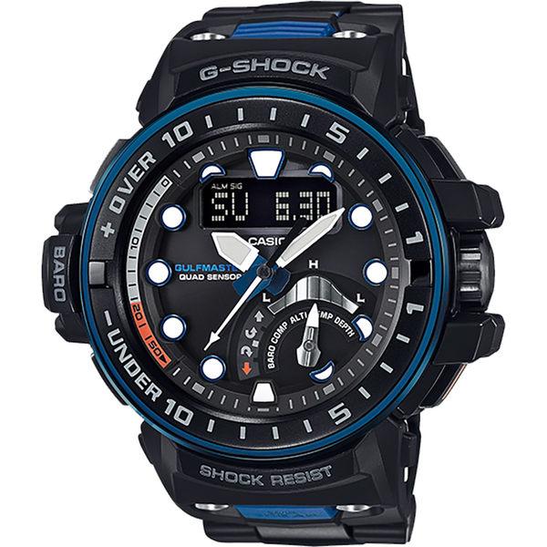 CASIO卡西歐 G-SHOCK MASTER 海軍進階版太陽能電波手錶-藍 GWN-Q1000MC-1A2 / GWN-Q1000MC-1A2DR