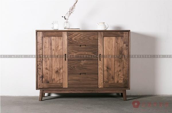 [紅蘋果傢俱]MJ010 北歐 日式 實木傢俱 餐邊櫃 抽屜櫃 客廳 臥室 儲物 收納櫃